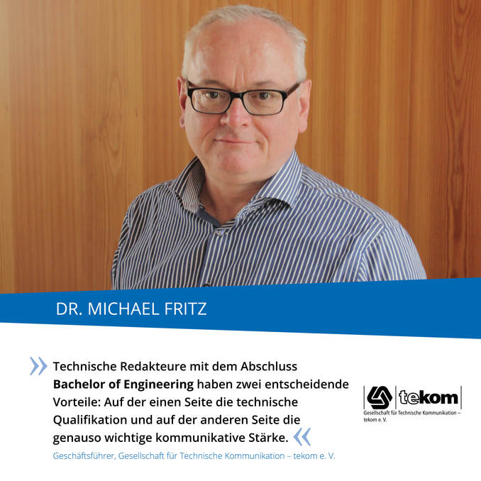 Industriestimme: Dr. Michael Fritz, tekom