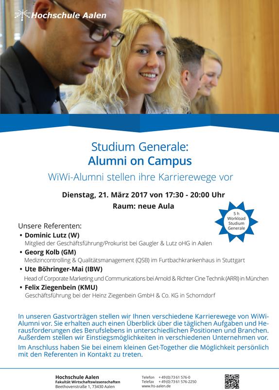 Hochschule Aalen News Alumni On Campus Next Step Erfolgreicher