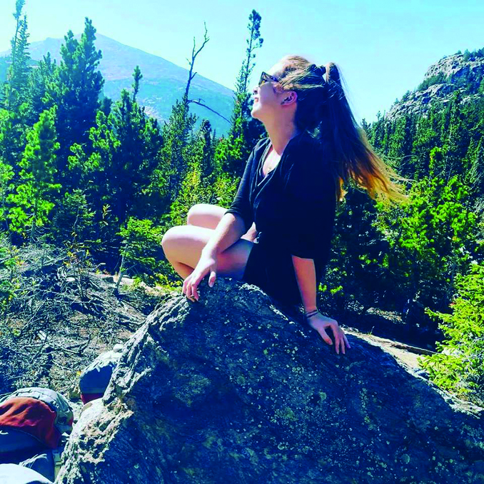 Franziska Steidle at a trip to the Rocky Mountain National Park in the north of Colorado.