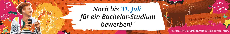 Banner: Bewerben für's Wintersemester 21/22